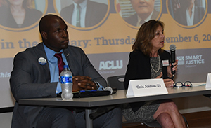 Democratic Attorney General candidates (l-r) Chris Johnson and Kathy Jennings.