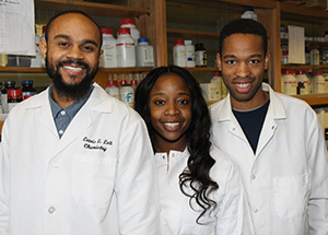 Ph.D. students Lewis Lott, Lindsey Hyppolite and Joshua Patterson said the instrumentation at DSU is comparable to DuPont's ES.