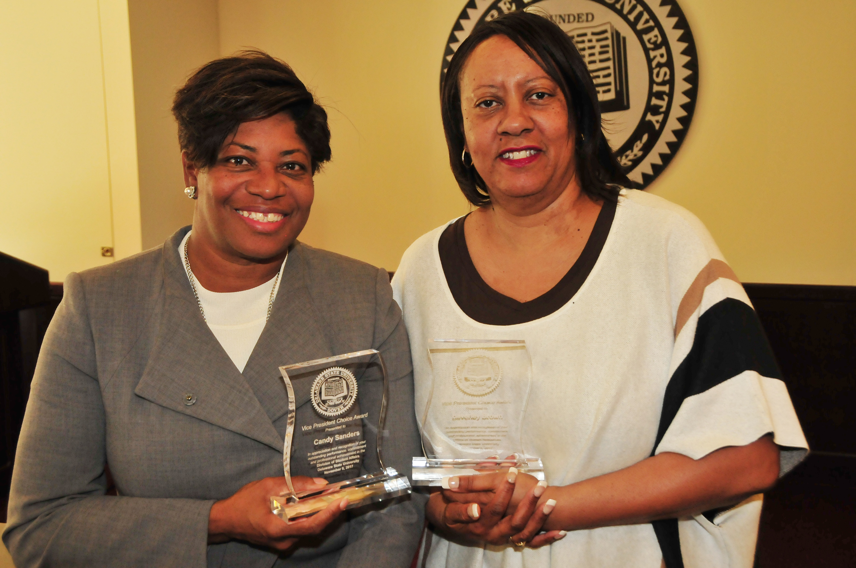 VP Choice Awardees Candy Young (l) and Beverly Brown.