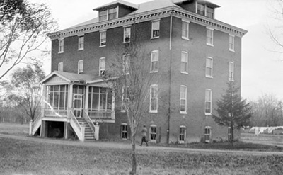 Lore Hall, where as matron, Lydia Laws took care of the female students.