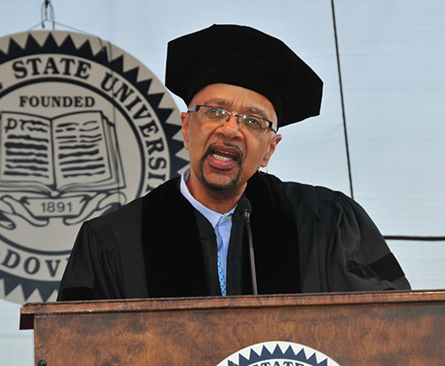 Keynote speaker James McBride.