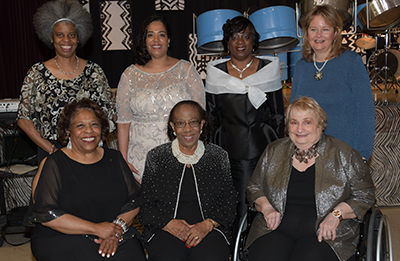Awardes l-r, Rosetta Roach, Wilma Mishoe, Michelle Fisher, Reba Hollingsworth, Cassandra Carter, Rosemary Twilley, GiGi Windley.