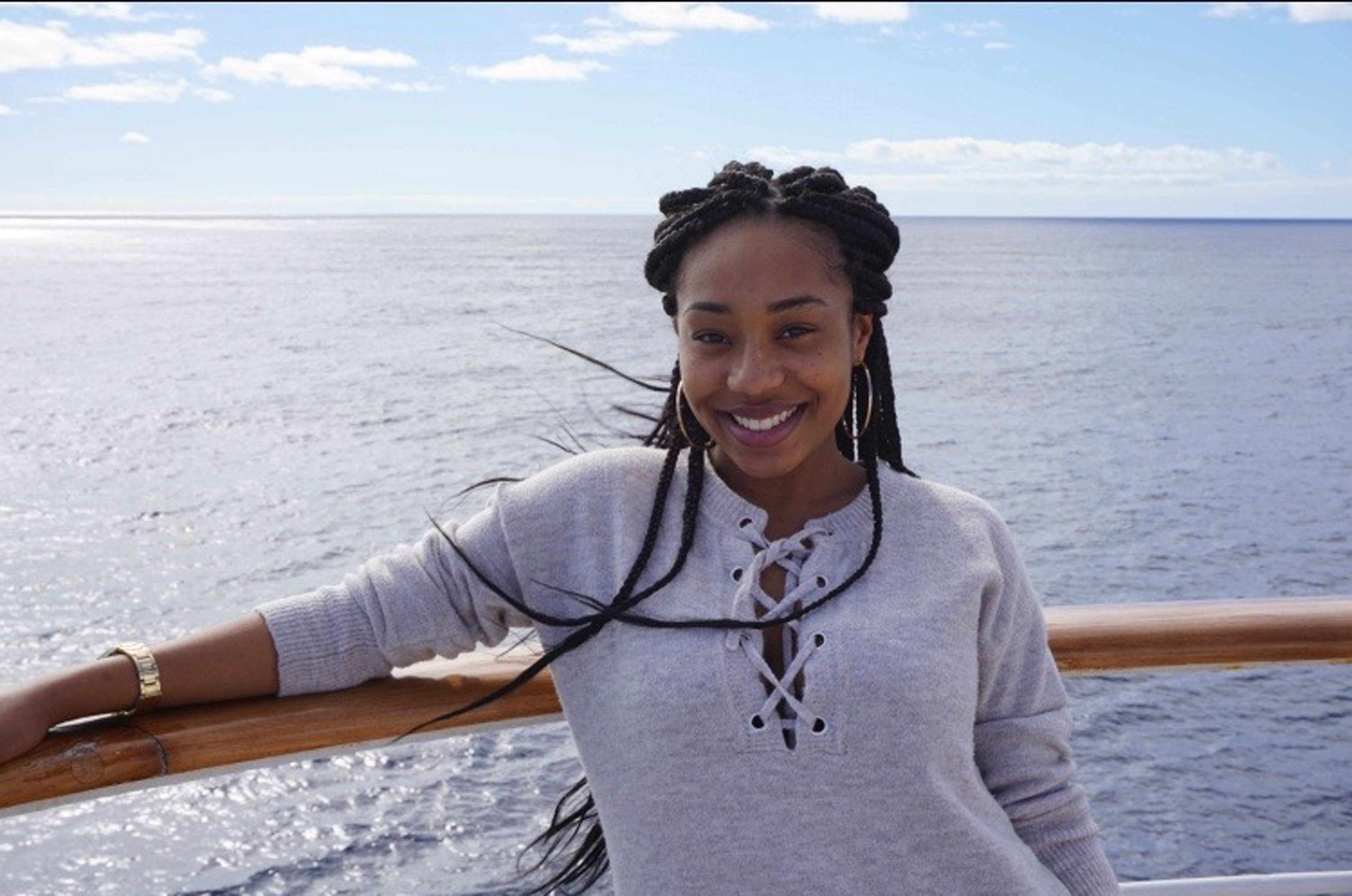 Deja Marsh spent long stretches surrounded by water,to travel to many interesting and exotic sites around the world.