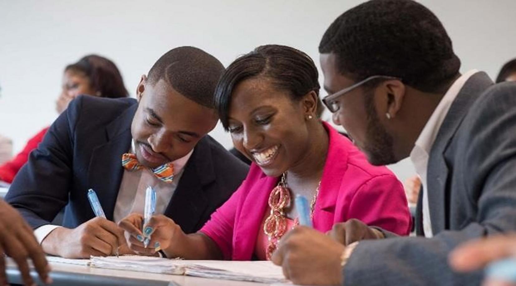 Graduate students at Delaware State University