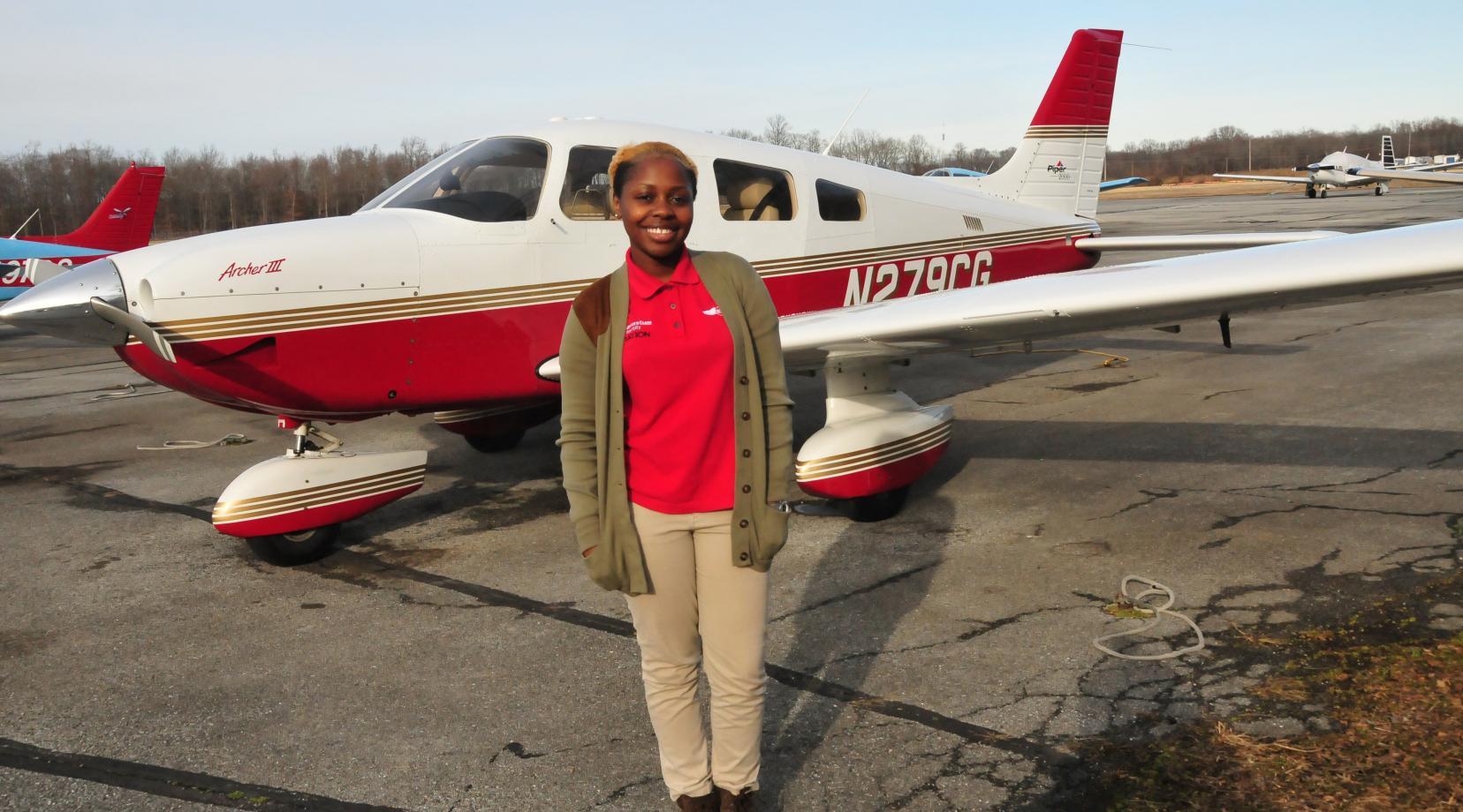 "<p>Penina ""Penni"" Kimani, a rising senior Aviation major, has been awarded a $3,500 scholarship from the Philadelphia Chapter of the Tuskegee Airmen International.</p>"
