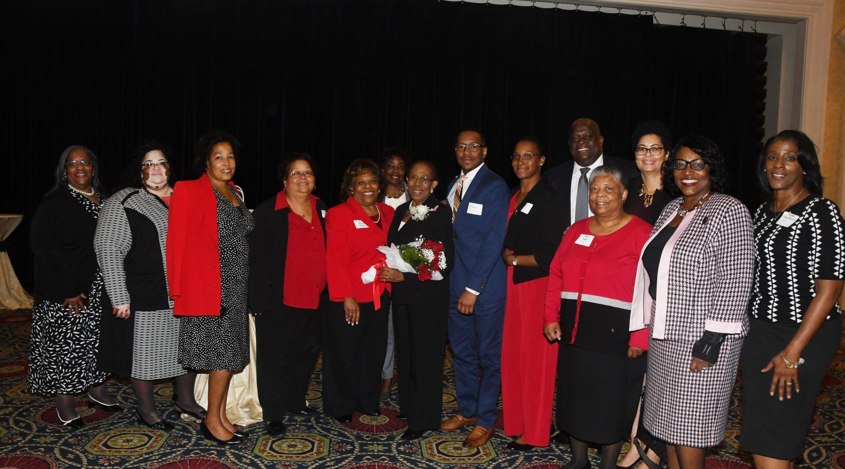 <p>A healthy contingent of the Delaware State University community showed up to witness alumna Dr. Reba Hollingsworth's induction into the Hall of Fame of Delaware Women during a ceremony at Dover Downs Hotel & Casino.</p>