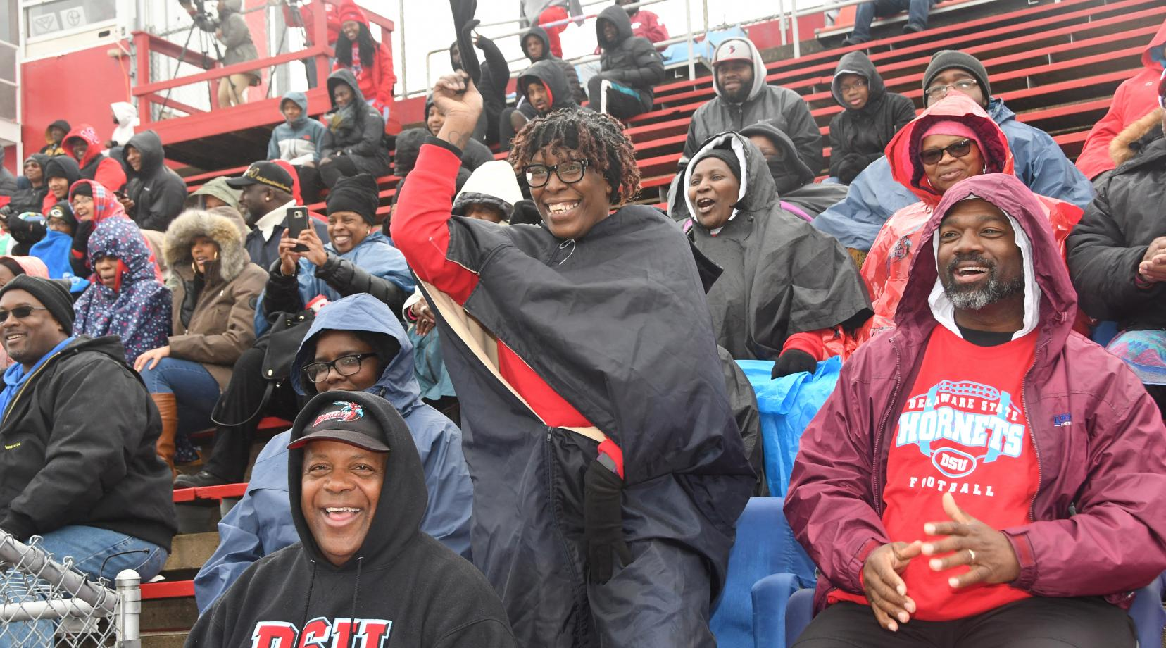 <p>The  Hornet Homecoming crowd were not disappointment their University's performance on the gridiron, as Delaware State University beat North Carolina Central 28-13.</p>