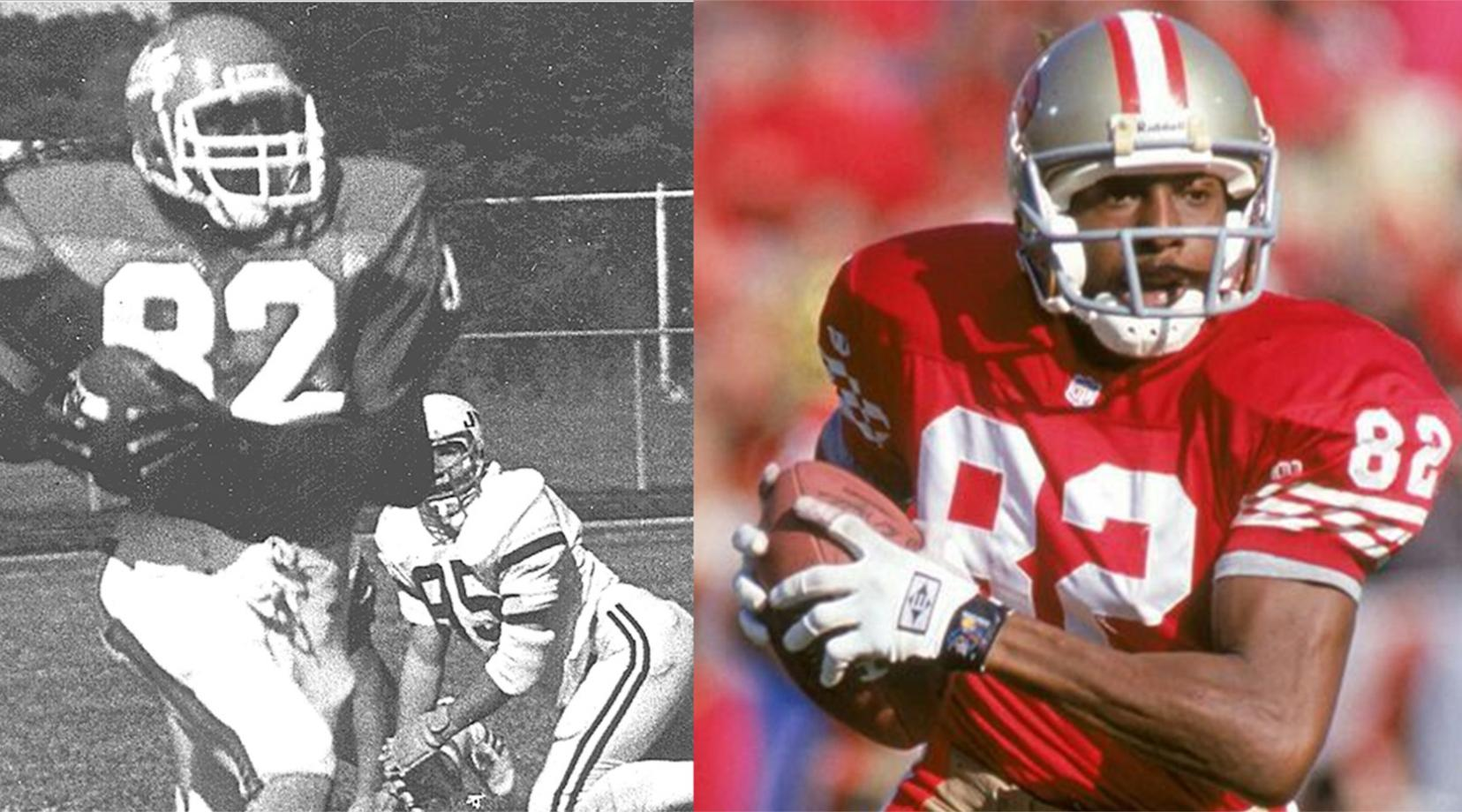 John Taylor, shown right in his Hornet days, and left as a San Francisco 49ers, has been selected to be inducted in the Black College Hall of Fame.