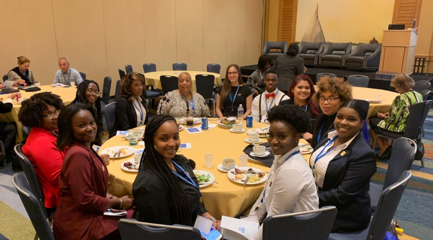 <p>A group of Delaware State University students attended the One Voice Together Conference held for community health professionals on Sept. 30 in Chesapeake, Md.</p>