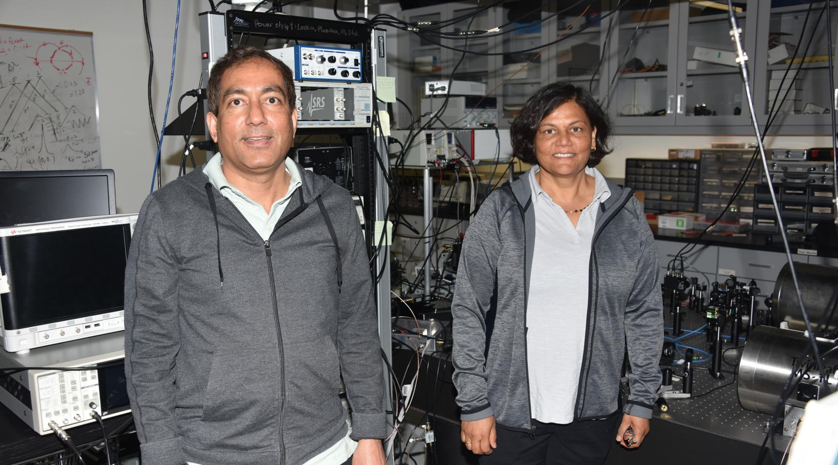 Dr. Gour Pati and Dr. Renu Tripathi, both professors of physics and engineering, are the principal investigator and co-PI, respectively, of a $239,908 U.S. Department of Defense grant to develop a millimeter wave quantum sensing system.