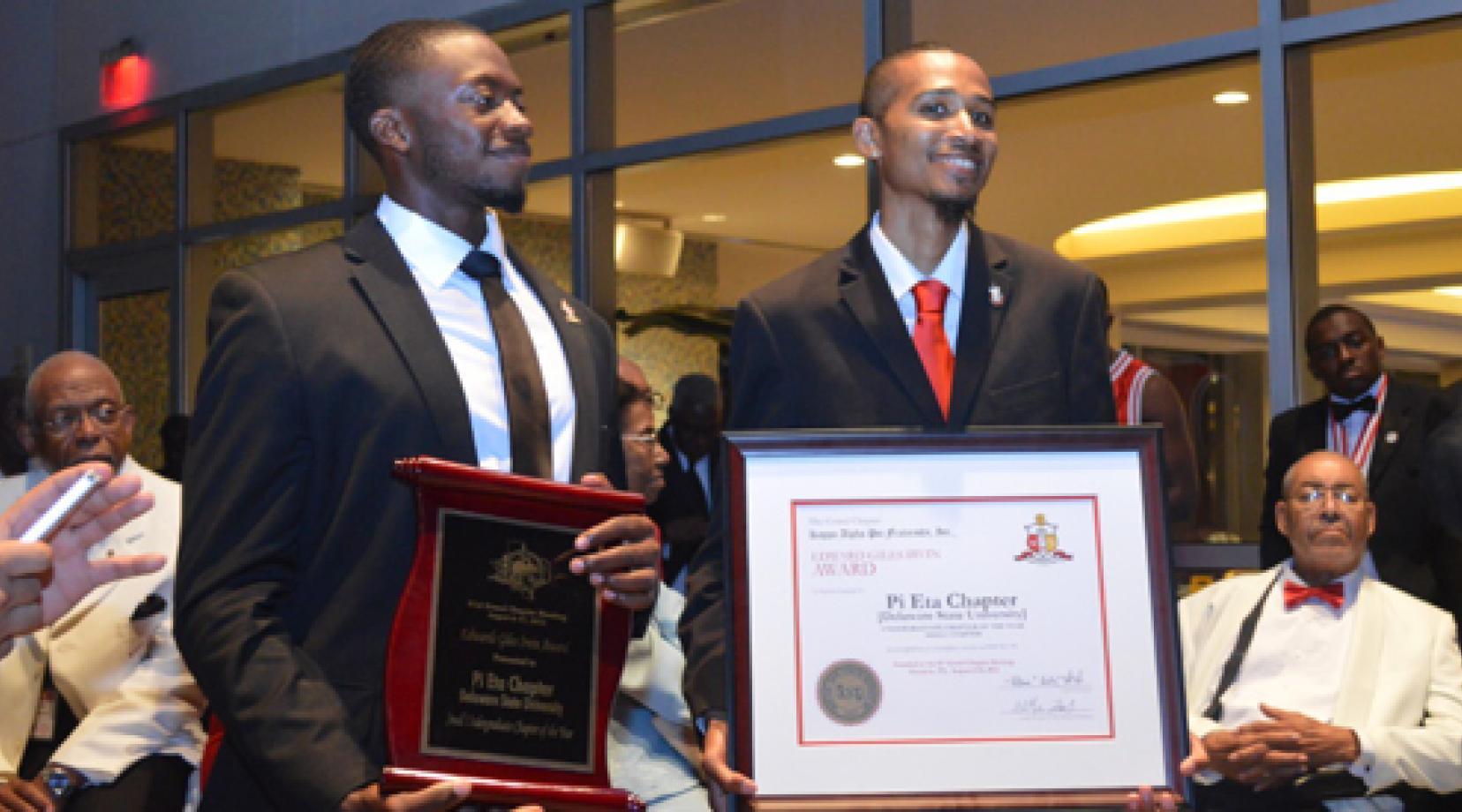 5143a77b8089 DSU s Pi Eta of Kappa Alpha Psi wins National Chapter of the Year.