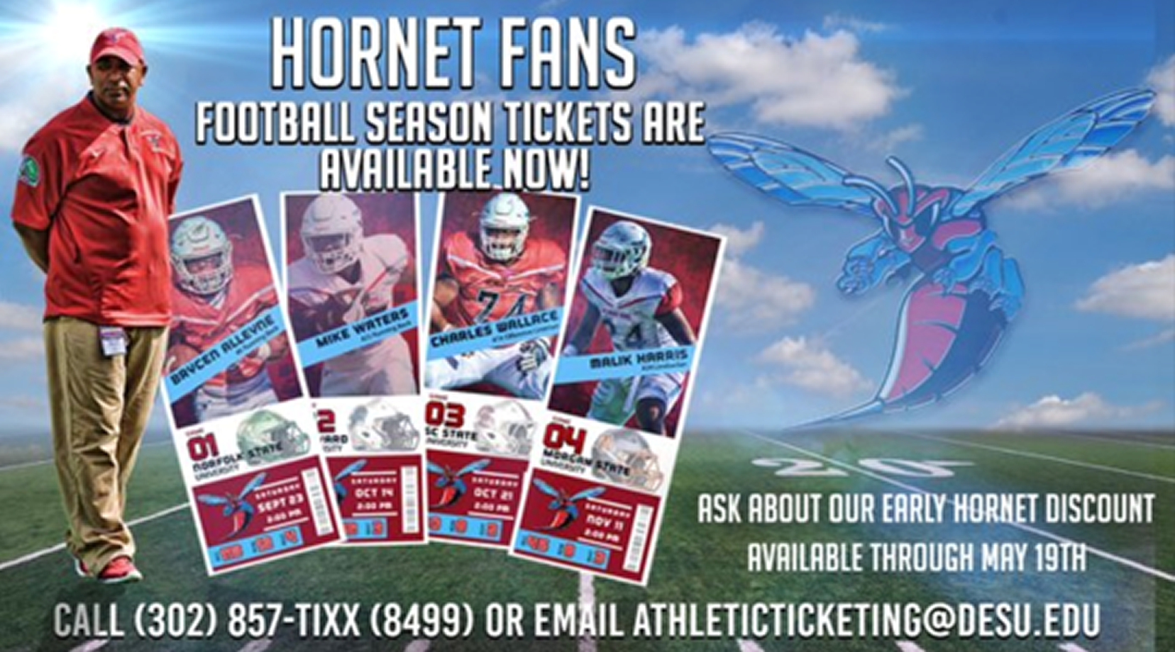 DSU football season tickets are available now!