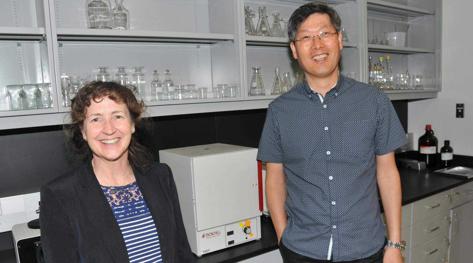 Dr. Melissa Harrington and Hwan Kim are the co-principal investigators who successfully obtained the five-year grant from the National Institute of General Medical Sciences.