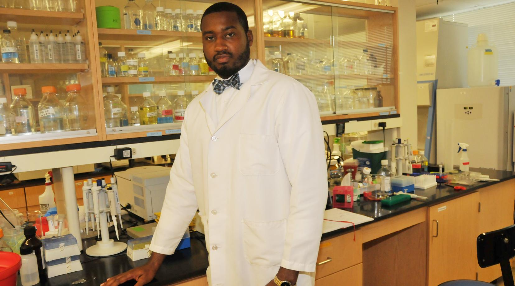 Dr. Derrick Scott, DSU assistant professor of biological sciences, is part of team of scientists from several other universities who each are doing individual but related research concerning the relationship in organisms genotype and physical characteristics due to gene expression or phenotype.