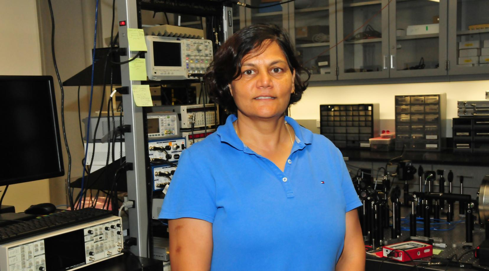 Dr. Renu Tripathi'a work to develop a new laser-based remote magnetometer has funding help from a three-year $727,691 grant from NASA-EPSCoR. Her research could help in the development of future satellite mission concepts.