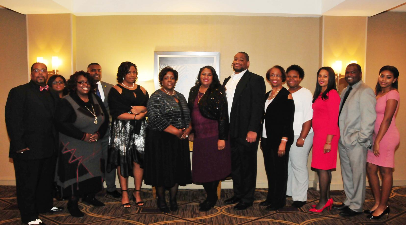 DSU's Early College High School staff and board members gathered at the Doubletree Hotel to receive an Education Award from the Wilmington Branch of the NAACP.