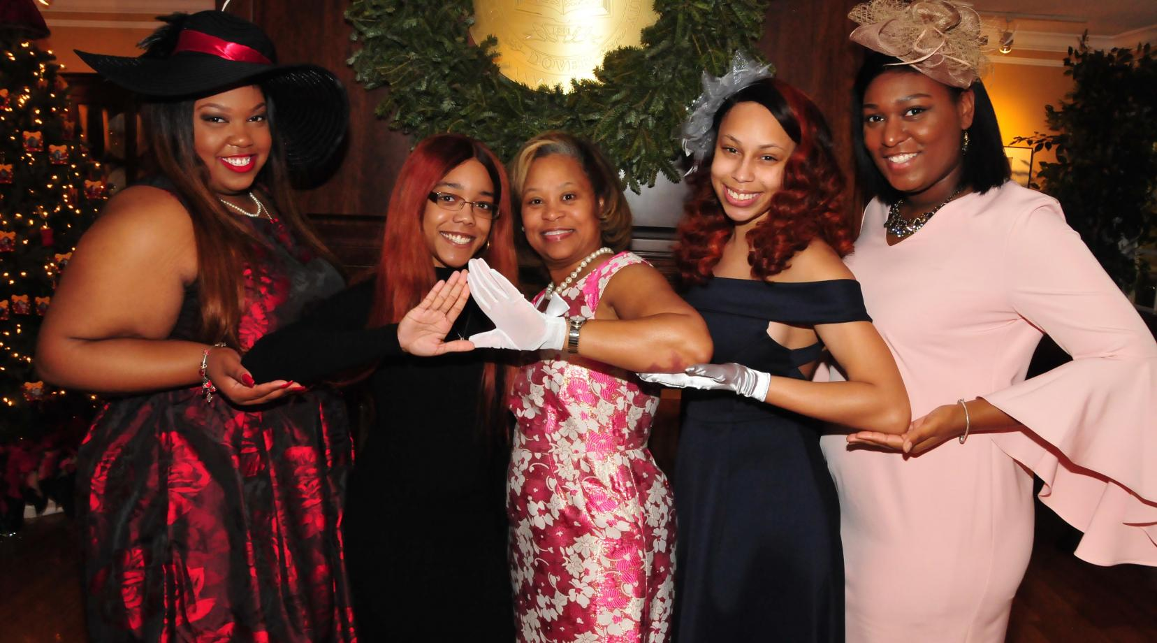 <p>Dr. Robin Williams poses with some of her graduating Delta Sigma Theta Sorority sisters during the Dec. 15 combined Ladies Tea and Gentlemen's Brunch</p>