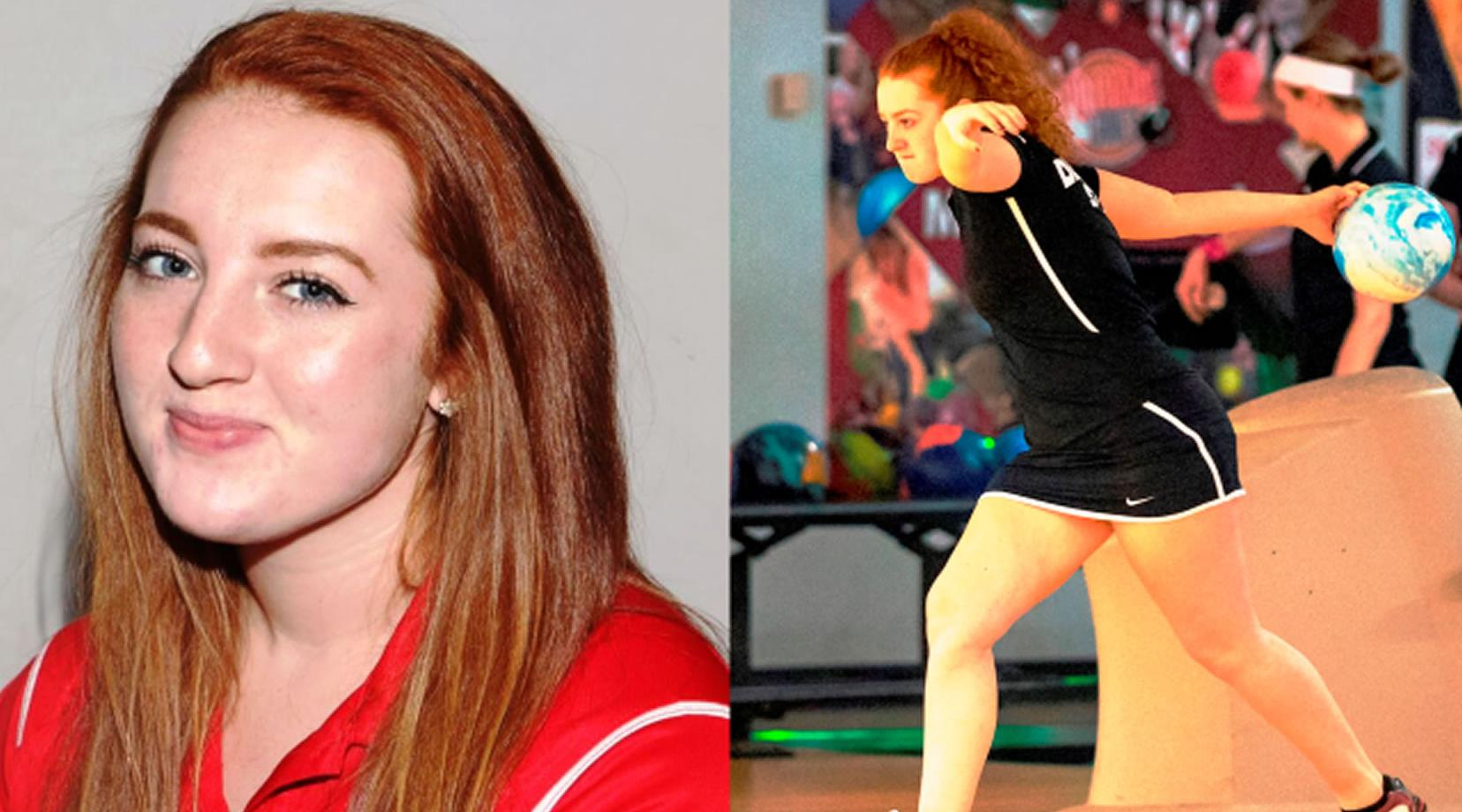 <p>Delaware State sophomore bowler Alexis Neuer</p>