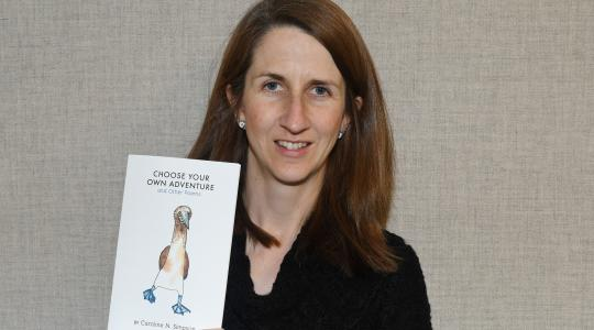 <p>Caroline Simpson, an adjunct assistant professor, has published a book of poems inspired by her trip to the Galapagos Islands.</p>
