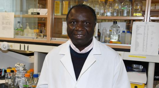 <p>Dr. Fondong has developed a way to neutralize the Geminivirus' impact on the Cassava Plant, a major food crop in Africa, South America and Southern Asia.</p>