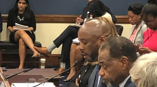 <p>Dr. Michael Casson Jr. testifies before a U.S. House of Representative subcommittee on how the Small Business Administration could work more effectively with Historically Black Colleges and Universities.</p>