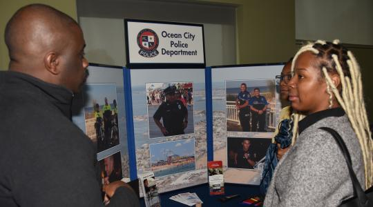 <p>The Ocean City Police Department was one of the 39 law enforcement agencies and other organizations that participated in the Sgt. Rodney H. Bond Jr. Law Enforcement and Forensic Science Career Fair.</p>