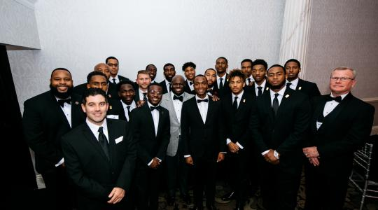 <p>Delaware State University, as evidenced by this photo, was well represented at the 23rd annual Ebony Black Tie Affair event on Nov. 25 at the Waterfall Banquet and Conference Center in Claymont, Del.</p>