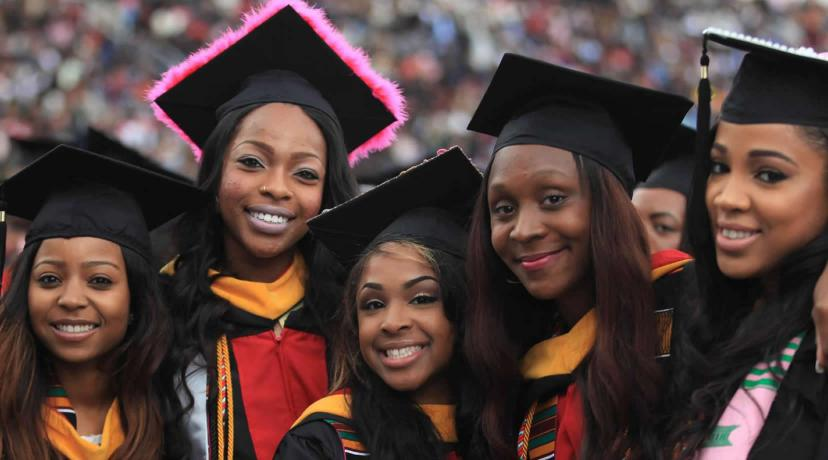 <p>Graduates at Commencement</p>