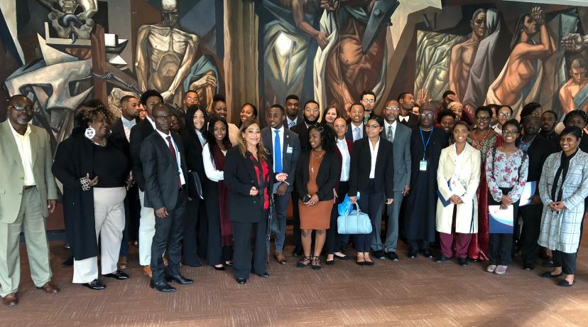 """<p>Fifty students along with faculty members from Delaware State University recently attended the """"Africa Dialogue Series"""" at the United Nations in New York City.</p>"""
