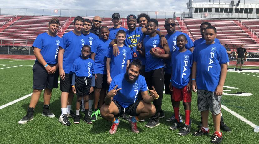 <p>Police officers from Delaware State University and the Dover Police Athletic League came together for the 2nd Annual Youth Football Combine held at Alumni Stadium.</p>