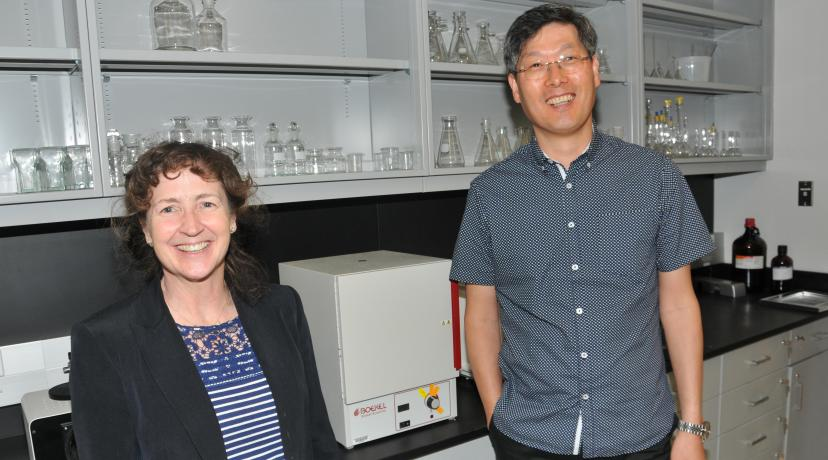 <p>Dr. Melissa Harrington and Hwan Kim are the co-principal investigators who successfully obtained the five-year grant from the National Institute of General Medical Sciences.</p>